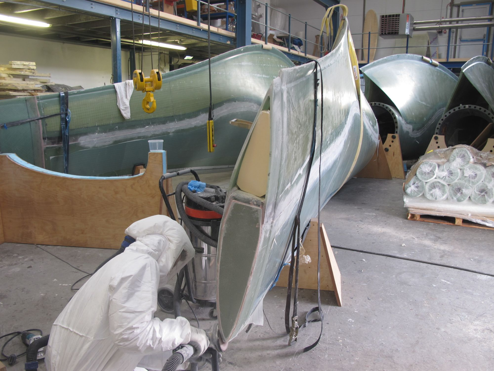 Tidal turbine blade under construction