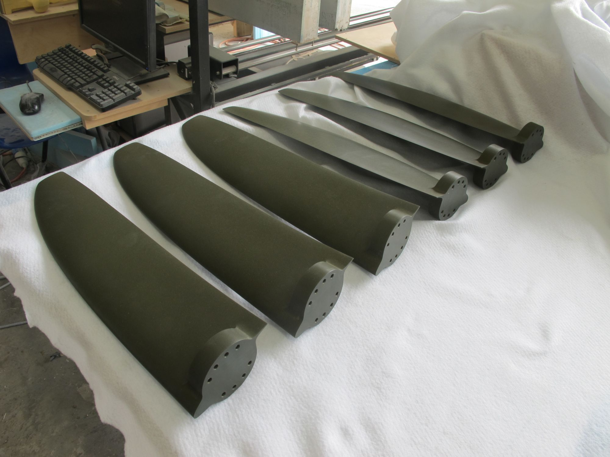 Aluminium blades for tidal energy project