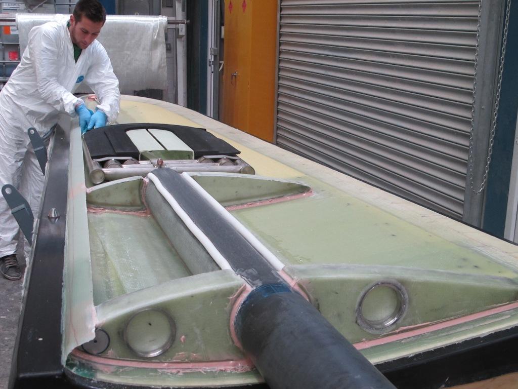 Blade tip under construction